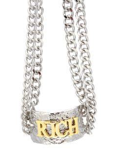textured rich chain choker $20.80
