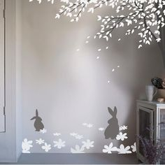 Bunny Meadow Luxury Nursery Wall Stickers at Custard & Crumble