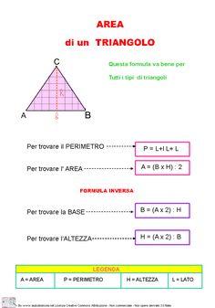 Area e il perimetro di un triangolo 2 Algebra, 9 Year Olds, Problem Solving, Teacher, Education, Learning, Area And Perimeter, Dyscalculia, Chart