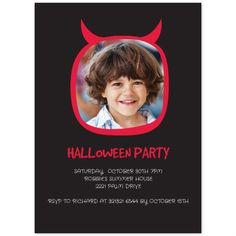 Free Halloween Party Invitation Printables , Devil,  Free Halloween Invitation Template