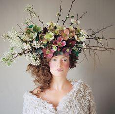 Fabulous floral headpieces created by Anna Korkobcova & Ivanka Matsuba | Flowerona