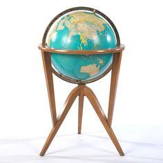 Vintage World Globe, Attr: Edward Wormley | aspire auctions