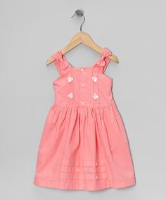 Pink Butterfly Button-Up Dress - Infant, Toddler & Girls