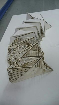 pavilion architecture a more structural view of how the folds can layer on top one another Folding Architecture, Maquette Architecture, Concept Models Architecture, Architecture Model Making, Parametric Architecture, Pavilion Architecture, Futuristic Architecture, Sustainable Architecture, Architecture Design