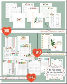 2014 Blogger Planner, Calendar, & Menu Planner   @mamamissblog #organize #2014planner