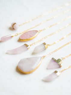 Check out these boho stone necklaces from Oliki on Etsy!