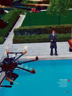 Arizona Muse plays with drones for Vogue US August 2015 by Steven Klein [Editorial]