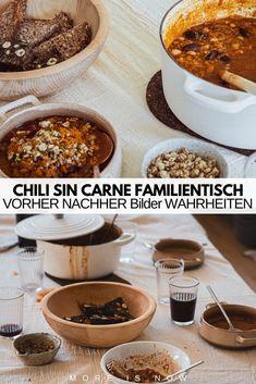 Ein Rezept, das die ganze Familie hungrig macht, besser wird umso öfter man es aufwärmt und vegan daherkommt - Chili sin Carne!