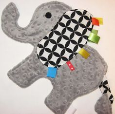 Elephant Lovey with YOUR CHOICE of ribbon by IcingOnTheCupcake