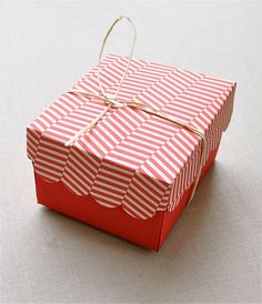 Holiday red and candy cane patterned boxes  I just like it. I know it's not practical. But I don't care!