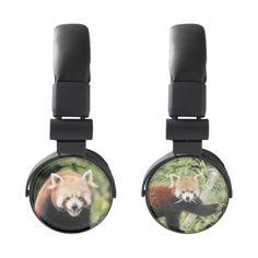 Headphones. 2 Photography Red Panda. Headphones