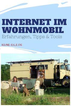 Internet im Wohnmobil: Meine Erfahrungen, Tipps und Tools In diesem Artikel erfährst du, wie ich mobiles Internet im Wohnmobil nutze: Welche Geräte, welche Anbieter, meine Erfahungen. Van Camping, Camping Hacks, Caravan, Mobiles Internet, Der Bus, Land Rover Defender, Campsite, Camper Van, Tent