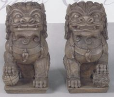 Foo Dog - Get statues for moms front stairs or backyard Grace Adler, Front Stairs, Foo Dog, Backyard, Patio, Home Staging, Statues, Design Projects, Goodies