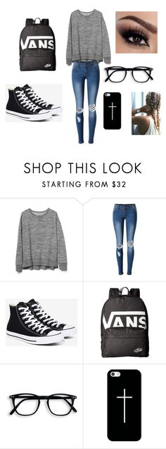 The Night is Still Young by savannah-101-b on Polyvore featuring Gap, WithChic, Converse, Vans and Casetify