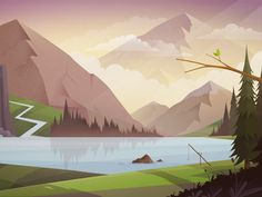Mountains background by DAN Gartman for Untime