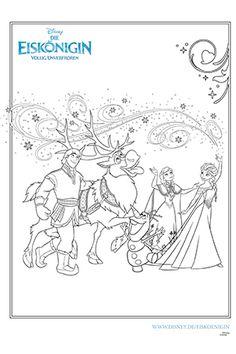 Sailor Moon Coloring Pages, Frozen Coloring Pages, House Colouring Pages, Coloring Sheets, Coloring Books, Disney Frozen Party, Frozen Decorations, Picture Puzzles, Color Me Beautiful
