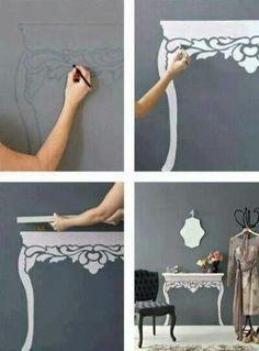 Creative side table idea ♥