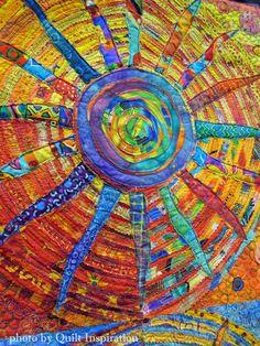 Susan Rienzo quilt detail: Sunshine State of Mind. Her website is: www.susanrienzodesigns.com