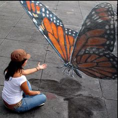 3D Chalk Art - Julian Beever                                                                                                                                                                                 More