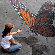 Trompe l'Oeil Chalk Art - Julian Beever