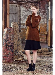 Prony Sweater, Bernoulli Skirt Wilfred Fall '14, available exclusively at @Aritzia