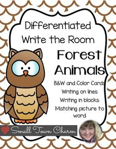 Differentiate your Write the Room center! 3 different worksheets to go along the same cards!Color and B&W cards for easy copying!Watch for more to come soon!