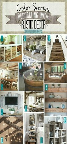 Color Series | Decorating with Rustic Decor | A Shade of Teal Rustic Wood Brown Tone