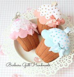 Barbara Handmade...: Filcowe babeczki /Felt cupcakes