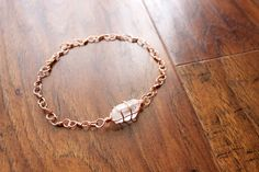 Crystal Quartz Copper Bracelet by TerraArcana on Etsy