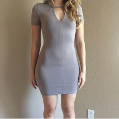 Taupe Keyhole Bodycon Dress Taupe Keyhole Bodycon Dress. Brand new. Never worn. Available in S-M-L. Model is wearing a small, for reference. 87% polyester. 13% spandex. No Paypal. No trades. 15% discount on all 3+ item bundles made with the bundle feature. No offers will be considered unless you use the make me an offer feature.    👉 Please follow 📱 Instagram: BossyJoc3y 👠 Blog: www.bossyjocey.com Dresses Mini