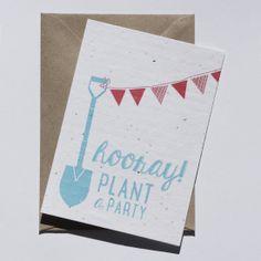 Plant a party - Plantable Postcard by niko niko