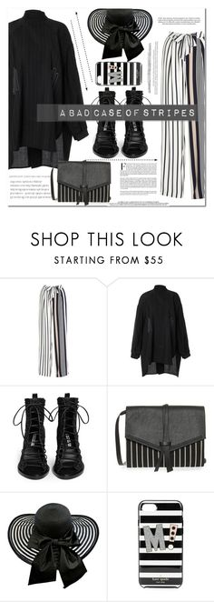 """""""A bad case of stripes"""" by es-vee ❤ liked on Polyvore featuring Raoul, E L L E R Y, Ann Demeulemeester, Isabel Marant and Kate Spade"""