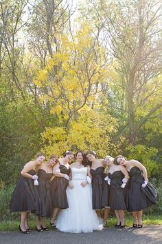 1950's styles Bridesmaids and Bride by whitney huynh