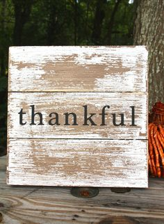 Pallet Sign | Thankful