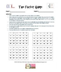 This fun #Factors Game helps kids to more fully understand what ...