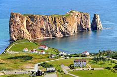 Rocher Perce/ Perce Rock in the Village of Perce ( Pop. It's on the tip of the Gaspe Peninsula in Quebec. Photo by Dennis Jarvis. Parc National, National Parks, Voyage Canada, Canada Summer, Cap Vert, Visit Canada, Canada Eh, Of Montreal, Beaux Villages