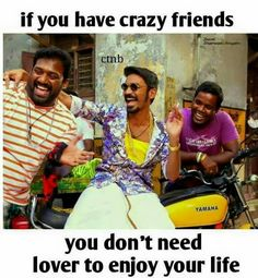 Kadalichu paru appo theriyumdi kannu Best Friend Quotes Funny, Besties Quotes, Funny Quotes, Crazy Friends, True Friends, Dear Best Friend, Best Friendship Quotes, Girl Facts, Real Life Quotes