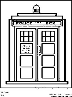 Dr Who Coloring Pages Tardis