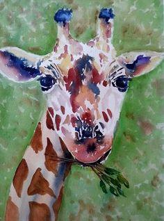 Harold Watercolour by Jane Guise Watercolour Paintings, Watercolor, Giraffe, My Arts, Artist, Artwork, Animals, Pen And Wash, Watercolor Paintings