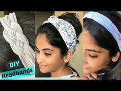 DIY: 3 ways to make stylish headbands from old T-shirts - YouTube
