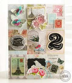 Collage from Pink Paislee blog