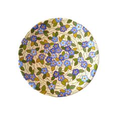 Floral decorative plate hand painted ceramic plate by Essenziale