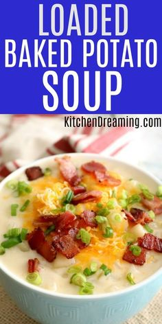 This Loaded Baked Potato Soup is rich and creamy, and bursting with bacon flavor! America loves bacon and in this recipe, Wright Brand Bacon plays a starring role. #Loaded #Baked #Potato #Soup #Bacon #Cheese via @rjeagle12