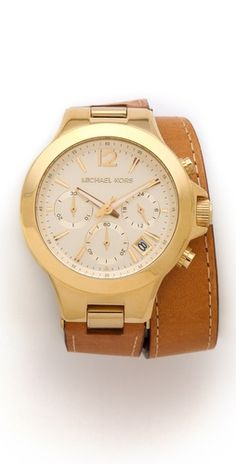 Michael Kors Peyton Wrap Watch.. I am not even going to say what I like most about this watch ((Peyton, cough tear cough))