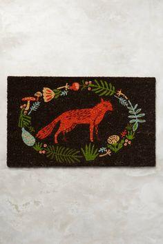 Ringed Fox Doormat   Pinned by topista.com