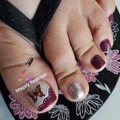 Cute Toe Nails, Cute Toes, Merry Christmas Gif, Chevron Nails, Toe Nail Designs, Pedicure Nails, Rings For Men, Disney, Pretty Pedicures