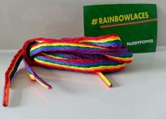 #Paddy power #rainbow shoe #laces boot trainer long flat 10mm wide,  View more on the LINK: http://www.zeppy.io/product/gb/2/252571195199/