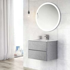 Concrete vanity units are unquestionably trendy. Discover the Harbour Substance collection of concrete and metallic effect bathroom furniture to suit a beautifully contemporary bathroom. Bathroom Vanity Units, Wall Mounted Vanity, Bathroom Basin, Vanity Sink, Bathroom Furniture, Bathroom Wall, Small Bathroom, Bathroom Ideas, Loft Bathroom