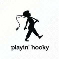 This adorable boy played hooky and is marchin' to the fishing hole! He's seems pretty certain that he's gonna make a big catch, too. This cute logo would be great for a children's author or book publisher, fun fishing blog, day care or after school program, arts and crafts, photography, too.