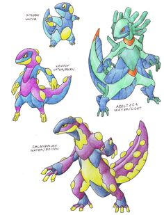 This is the remake of this ones and now with descriptions, also new names 063-DINANGE (Deinos-Angel) -Psychic/Dark -Dread Pokemon -Ability-Phobia: All the user attack have a 50% of chances of makin...